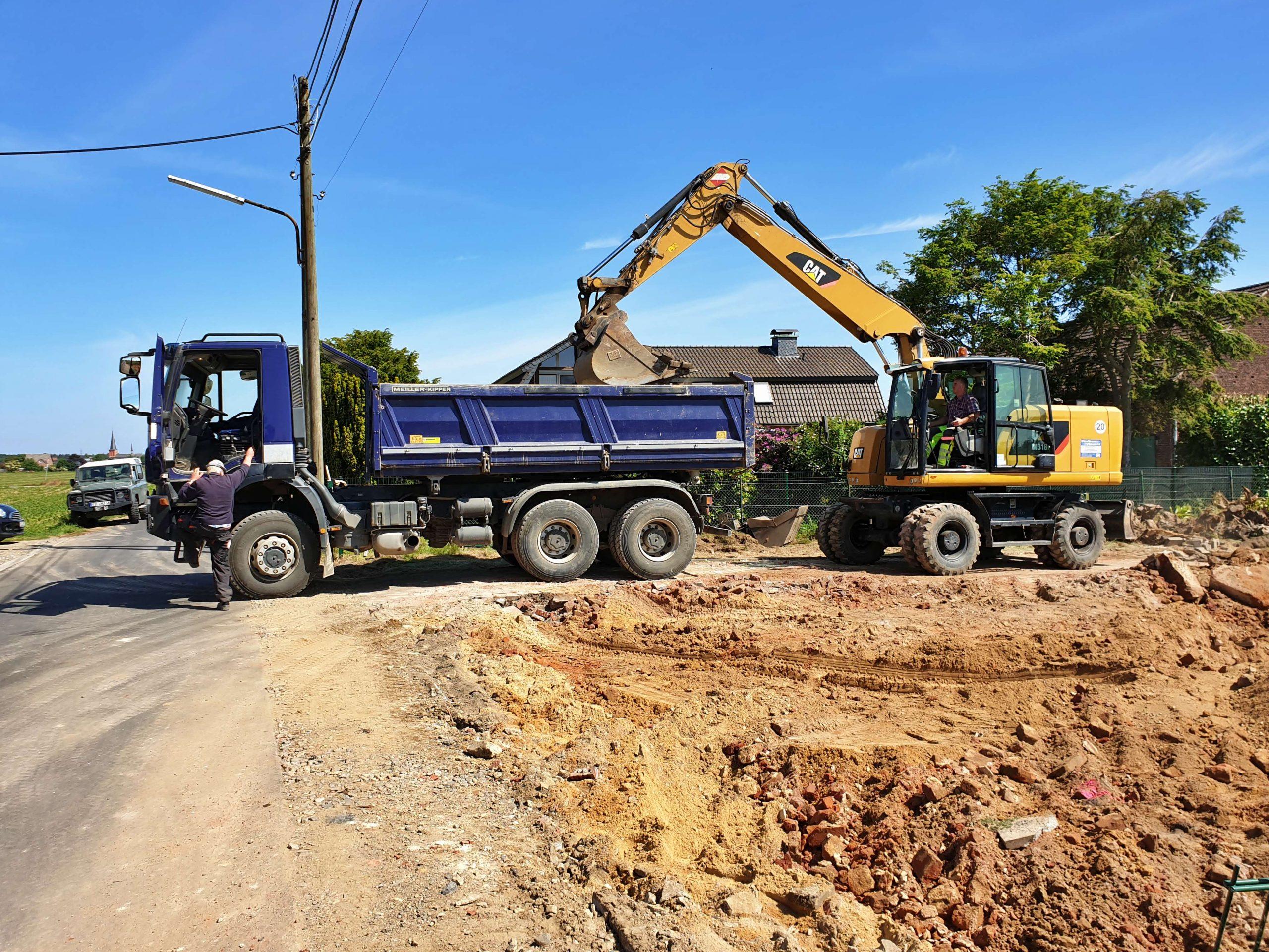 Erdarbeiten Neubau Einfamilienhaus Bungalow freistehend Schwalmtal
